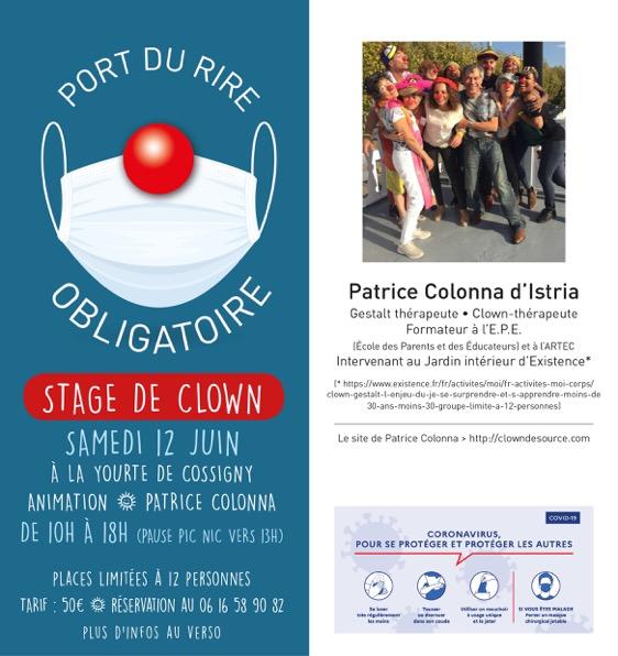 Clown a la yourte de Cosigny